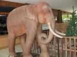 Слон из красного дерева
