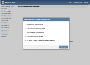 Как узнать статистику личных сообщений Вконтакте